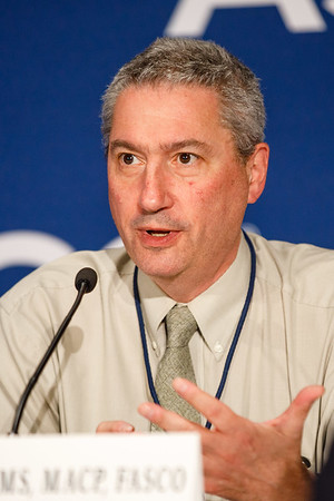 Robert Dreicer, MD, MS, MACP, FASCO, speaks during Friday, Press Briefing