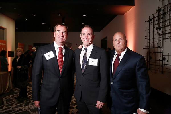 Dr. Rob Hauser, Dr. Tony Wagner and Jody Simon during 2018 Conquer Cancer Foundation Dinner