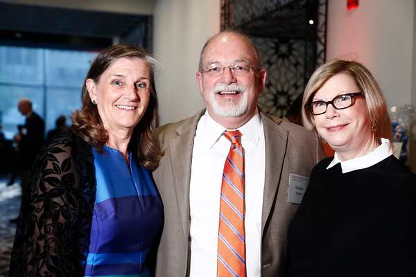 Nancy Daly, Dr. Charlie Penley and Dr. Sandy Swain during 2018 Conquer Cancer Foundation Dinner