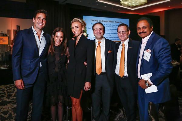Bill Rancic, Jane Hertzmark Hudis, Giuliana Rancic, Dr. Tom Roberts, Jr., Dr. Cliff Hudis and Raj Mantena during 2018 Conquer Cancer Foundation Dinner