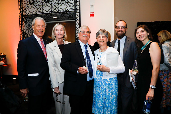 Cancer survivor Linda Zanetti and her family during 2018 Conquer Cancer Foundation Dinner