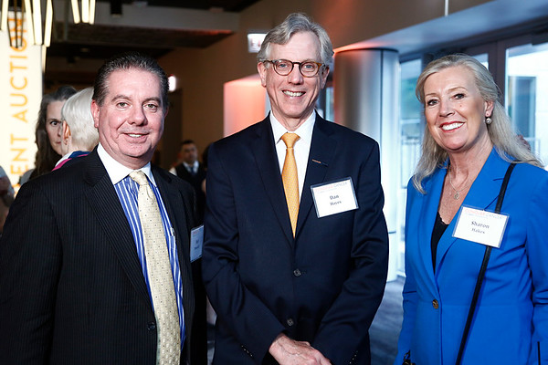 Bob Donovan, Dr. Dan Hayes and Sharon Hakes during 2018 Conquer Cancer Foundation Dinner