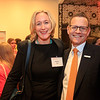 Drs. Debra Patt and Cliff Hudis mingling at the cocktail reception during 2018 Conquer Cancer Foundation Dinner