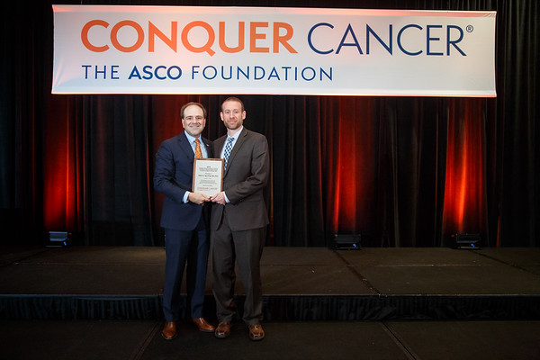 Presentation of Conquer Cancer Foundation of ASCO Endowed Young Investigator Award in memory of John R. Durant, MD, during 2018 Grants & Awards Ceremony and Reception