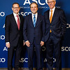 Chicago, IL - 2018 ASCO Annual Meeting - Clifford A. Hudis, MD, FACP, FASCO, ASCO CEO, Daniel F. Hayes, MD, FASCO, ASCO Past President, Thomas G. Roberts, Jr, MD, during Opening Session at the American Society of Clinical Oncology (ASCO) Annual Meeting here today, Saturday June 2, 2018. Approximately 40,000 physicians, researchers, and healthcare professionals from over 100 countries are attending the 54th Annual Meeting, which is being held at McCormick Place. The ASCO Annual Meeting highlights the latest findings in all major areas of oncology, from basic to clinical and epidemiological studies. Photo by © ASCO/Scott Morgan 2018 Technical Questions: todd@medmeetingimages.com; ASCO Contact: photos@asco.org