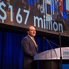 Thomas G. Roberts, Jr., MD, Conquer Cancer Chair, delivering welcome remarks and announcing the Conquer Cancer Top Donors during Opening Session
