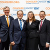 Conquer Cancer Top Donor, Thomas G. Roberts, Jr., MD, with ASCO leadership during 2018 Conquer Cancer Top Donor Awards