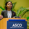 Ibiayi Dagogo-Jack, MD, 2017 YIA recipient and 2012 RTA recipient speaking during Diversity in Oncology Meet and Greet