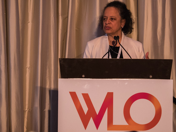 Dr. Lori Pierce, Recipient of the 2018 Hologic, Inc Endowed Women Who Conquer Cancer Mentorship Award during 2018 Women Leaders in Oncology Event