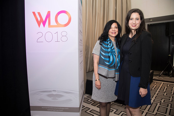 Deanna van Gestel, CEO, Vaniam Group with Dr. Laura Levine during 2018 Women Leaders in Oncology Event