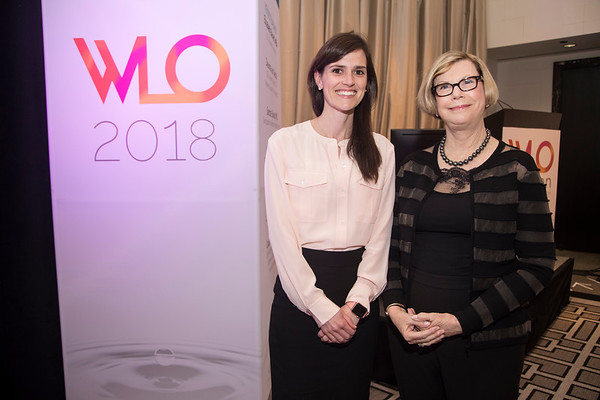 Dr. Sandra Swain with Dr. Jennifer Crombie during 2018 Women Leaders in Oncology Event