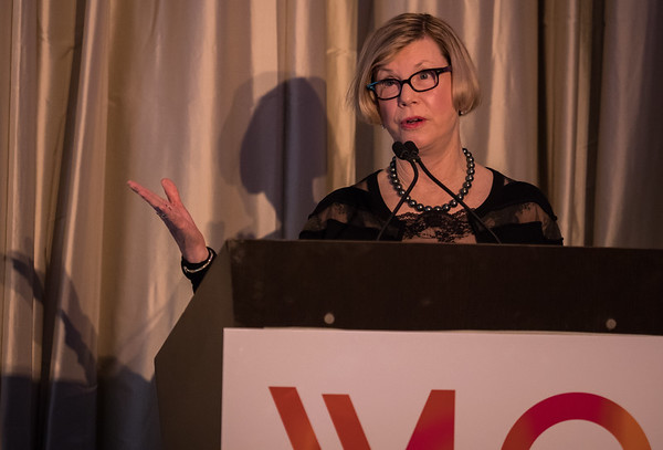 Dr. Sandra M. Swain, Chair, Women Who Conquer Cancer, during 2018 Women Leaders in Oncology Event