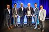 2018 Gianni Bonadonna Breast Cancer Award and Lecture recipient, Gabriel Hortobagyi, MD, FACP, FASCO, with GSK representative during 2018 Gianni Bonadonna Breast Cancer Award and Lecture