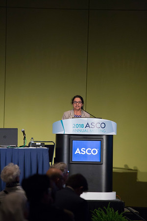 Supriya Gupta Mohile, MD, MS, presenting the B.J. Kennedy Award Lecture for Scientific Excellence in Geriatric Oncology during B.J. Kennedy Award and Lecture for Scientific Excellence in Geriatric Oncology