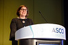 Danielle Leach, MPA, speaks during Pediatric Oncology Award and Lecture and Presentation of the Partners in Progress Award