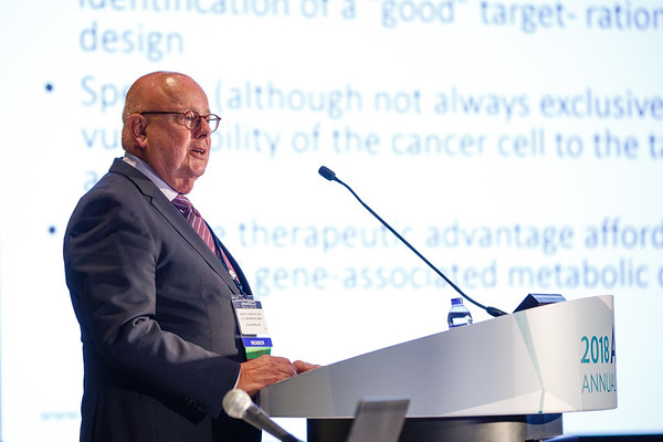 Gregory H. Reaman, MD, FASCO, presenting the Pediatric Oncology Award Lecture during Pediatric Oncology Award and Lecture and Presentation of the Partners in Progress Award