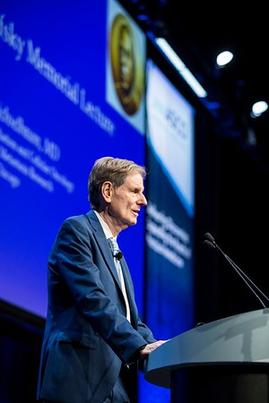 Ralph R. Weichselbaum, MD, speaks during Opening Session With Fellows of the American Society of Clinical Oncology, Guest Speaker's Address, Presidential Address, and David A. Karnofsky Memorial Award and Lecture