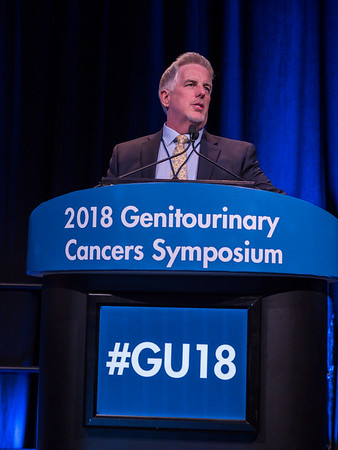Robert G. Bristow, MD, PhD, giving this year's keynote lecture on prostate cancer during Prostate Cancer: Keynote Lecture