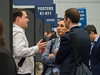 Attendees network during Poster sessions and break