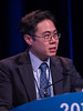 "Eugene Jueren Teoh, MBBS, MRCP, presenting Abstract 165, ""The FALCON trial: Impact of 18F-fluciclovine PET/CT on clinical management choices for men with biochemically recurrent prostate cancer,"" during Rapid-Fire Abstract Session: Prostate Cancer"