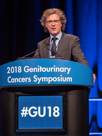 Joe M. O'Sullivan, MD, FRCR, speaks during General Session 2: Emerging Diagnostics and Therapies in Advanced Prostate Cancer