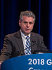"John J Coen, MD, presenting Abstract 408, ""Selective bladder preservation with twice-daily radiation plus 5-flourouracil/cisplatin (FCT) or daily radiation plus gemcitabine (GD) for patients with muscle invasive bladder cancer: Primary results of NRG/RTOG 0712—A randomized phase 2 multicenter trial,"" during General Session 5"