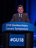 "Renaud de Crevoisier, presenting Abstract 4, ""Daily versus weekly prostate cancer image-guided radiotherapy: A phase 3, multicenter, randomized trial,"" during Rapid-Fire Abstract Session: Prostate Cancer"