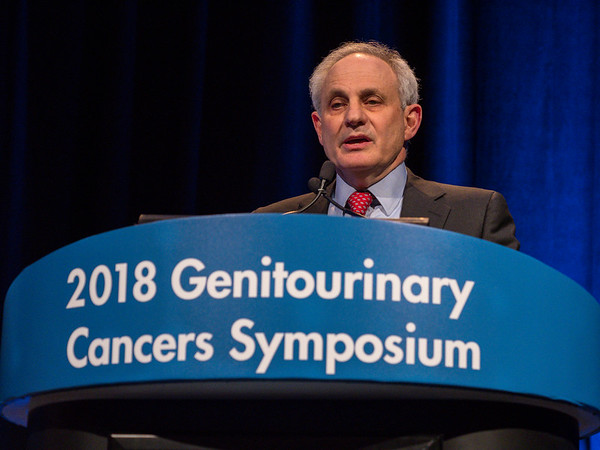 "Michael B. Atkins, MD, presenting Abstract 579, ""Safety and efficacy of axitinib (axi) in combination with pembrolizumab (pembro) in patients (pts) with advanced renal cell cancer (aRCC),"" during Oral Abstract Session C: Renal Cell Cancer"