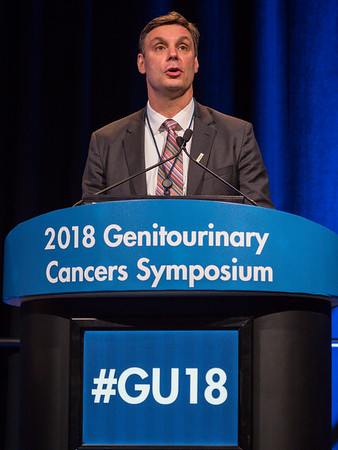 Daniel J. George, MD, presents Abstract 576 during General Session 8: Comprehensive Characterization and Management of the Incidental Renal Mass