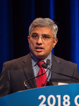 Ramaprasad Srinivasan, MD, PhD, discusses Abstract 581 during Oral Abstract Session C: Renal Cell Cancer