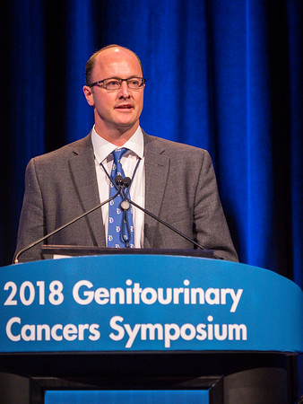 Andrew J. Armstrong, MD, presents Abstract 160 during General Session 2: Emerging Diagnostics and Therapies in Advanced Prostate Cancer