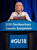 Alison Jane Birtle, MRCP, FRCR, MD, presents Abstract 407 during Welcome and General Session 4: Current and Future Directions of Muscle-Invasive Bladder Cancer