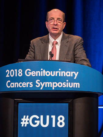 Robert J. Motzer, MD, giving this year's keynote lecture on renal cell cancer during Renal Cell Cancer: Keynote Lectures