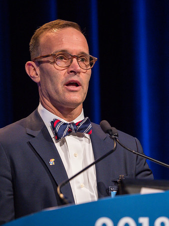 Jeffrey M. Holzbeierlein, MD, FACS, Program Committee Chair, speaks during Welcome and General Session 4: Current and Future Directions of Muscle-Invasive Bladder Cancer