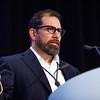 Keynote speaker Luiz Diaz, MD, during Keynote Lecture