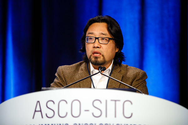 Dr. David S. Hong presents Abstract 49 during Oral Abstract A: Clinical Trials