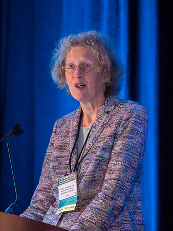 "Flora Van Leeuwen, PhD, presenting Abstract 114, ""Cardiovascular disease risk after treatmentduringinduced primary ovarian insufficiency in female survivors of Hodgkin lymphoma,"" during Oral Abstract Session B"