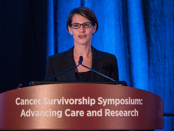 Sarah Birken, MD, discussing Abstracts 2 and 20 during Oral Abstract Session A