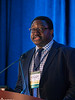 "Nosayaba Osazuwaduring-Peters, MPH, presenting Abstract 146, ""Suicide risk among cancer survivors: Head and neck versus other cancers,"" during Oral Abstract Session B"