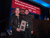 Carol A. Rosenberg, MD, FACP, presents the Ellen L. Stovall Award to Patricia Ganz, MD, FASCO