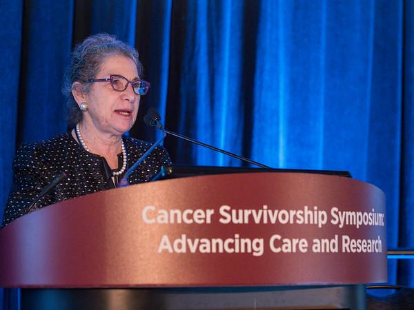 Patricia Ganz, MD, FASCO, presenting the Ellen L. Stovall Lecture for Advancement of Cancer Survivorship Care