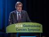 Dr. Thierry Andre presents Abstract 553 during Oral Abstract Session C: Cancers of the Colon, Rectum, and Anus
