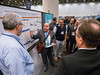 Khaldoun Almhanna, MD, MPH, leading attendees during Poster Walks