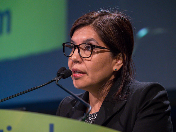 Dr. Paola Catherine Montenegro speaks during General Session 2
