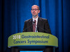 Michael Overman, MD, presenting Abstract 554 during Oral Abstract Session C: Cancers of the Colon, Rectum, and Anus