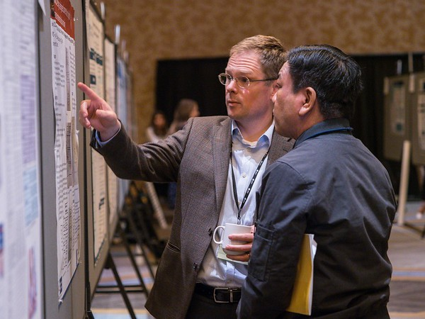 Attendees during Poster Walks