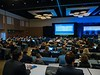 Attendees listen to Lise Nottelmann, MD, present Abstract 75: A Single-Center Randomized Clinical Trial of Palliative Rehabilitation Versus Standard Care Alone in Patients with Newly Diagnosed Non-Resectable Cancer during Oral Abstract Session A