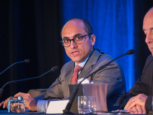 Yousuf Zafar, MD, during General Session 6: Show Me the Money! Financial Toxicity During Treatment and Beyond