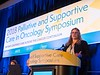 Lise Nottelmann, MD, presenting Abstract 75: A Single-Center Randomized Clinical Trial of Palliative Rehabilitation Versus Standard Care Alone in Patients with Newly Diagnosed Non-Resectable Cancer during Oral Abstract Session A
