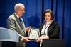 Overcoming Barriers to Clinical Trial Enrollment Howard A. Burris, MD, FACP, FASCO, presenting the Partners in Progress Award to Connie M. Szczepanek, RN, BSN, CCRP